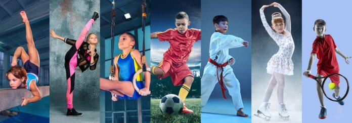 Παιδιά που ασκούνται σε διαφορετικά αθλήματα