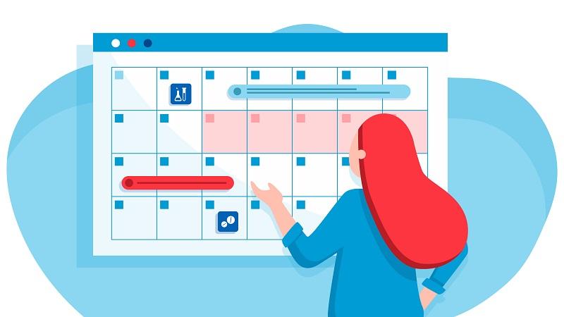 Σχεδιάγραμμα με ημερολόγιο περιόδου