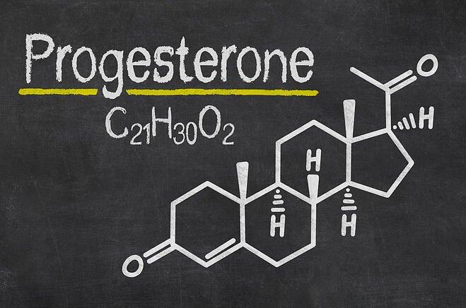 Πίνακας με την ορμόνη προγεστερόνη