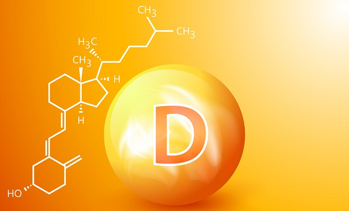 Τρισδιάστατη απεικόνιση του μορίου της βιταμίνης d