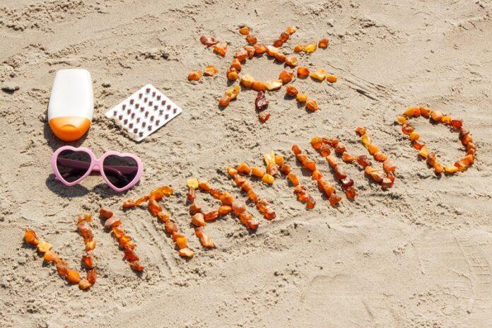 Σχέδιο στην άμμο για τη βιταμίνη D