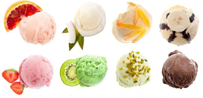 Παγωτά από διάφορα φρούτα